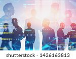 silhouettes of diverse business ...   Shutterstock . vector #1426163813