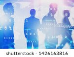 silhouettes of diverse business ...   Shutterstock . vector #1426163816