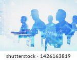 silhouettes of diverse business ...   Shutterstock . vector #1426163819