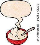 cartoon bowl of porridge with... | Shutterstock .eps vector #1426172339
