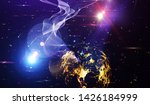 explosion of stars in space....   Shutterstock . vector #1426184999