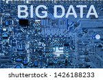 abstract close up of mainboard...   Shutterstock . vector #1426188233