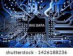 abstract close up of mainboard...   Shutterstock . vector #1426188236