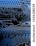 abstract close up of mainboard...   Shutterstock . vector #1426188239