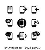 9 icons set   smart phone ...