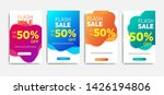 sale banner template with... | Shutterstock .eps vector #1426194806