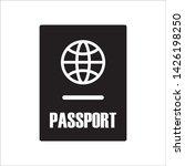 passport icon in trendy flat...