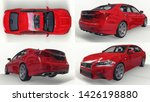 set 3d model red lexus gs on... | Shutterstock . vector #1426198880