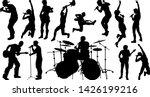a set of musicians  rock or pop ... | Shutterstock .eps vector #1426199216
