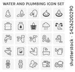 water drinking and plumbing...   Shutterstock .eps vector #1426200290