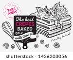 waffle  pancake  crepe...   Shutterstock .eps vector #1426203056