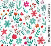 seamless pattern of cute small... | Shutterstock .eps vector #1426204976