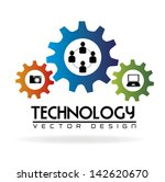 technology gears over white... | Shutterstock .eps vector #142620670