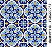 spanish tile pattern vector...   Shutterstock .eps vector #1426207073