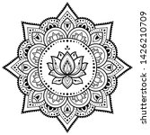 circular pattern in form of... | Shutterstock .eps vector #1426210709