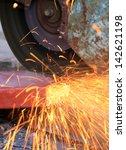 cutting a metal pipe | Shutterstock . vector #142621198