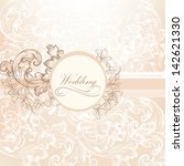 cute wedding background in pink ... | Shutterstock .eps vector #142621330