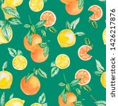 watercolor summer collection... | Shutterstock . vector #1426217876