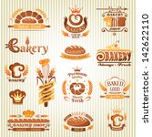 set of bakery labels  badges... | Shutterstock .eps vector #142622110