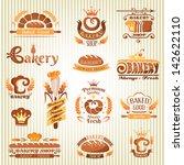 set of bakery labels  badges... | Shutterstock .eps vector #142622110