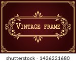 decorative frame with beautiful ... | Shutterstock .eps vector #1426221680