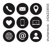 set of contact us icon. web... | Shutterstock .eps vector #1426223033