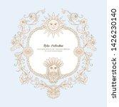 border  frame  label in baroque ... | Shutterstock .eps vector #1426230140