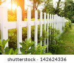 county style wooden fence. | Shutterstock . vector #142624336