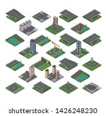 road and buildings isometric... | Shutterstock .eps vector #1426248230
