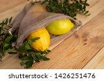 lemons on old wooden desk | Shutterstock . vector #1426251476