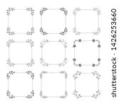set of hand drawn black squared ... | Shutterstock .eps vector #1426253660