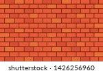 brick wall  red orange bricks...   Shutterstock .eps vector #1426256960