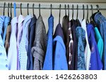clothes hanging on a clothing...   Shutterstock . vector #1426263803