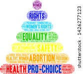pro choice word cloud on a... | Shutterstock .eps vector #1426277123