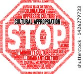 cultural appropriation word... | Shutterstock .eps vector #1426279733