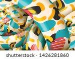 vector wavy abstract background ...   Shutterstock .eps vector #1426281860