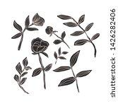 doodle flowers set ... | Shutterstock .eps vector #1426282406