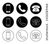 phone icon vector. call icon... | Shutterstock .eps vector #1426285466