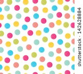 Summer Polka Dot Pattern.