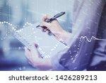 multi exposure of woman's...   Shutterstock . vector #1426289213