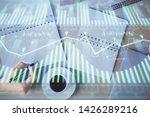 multi exposure of woman's...   Shutterstock . vector #1426289216