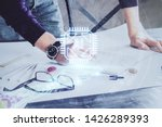 writing man with technology...   Shutterstock . vector #1426289393