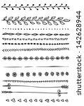 hand drawn vector  line border... | Shutterstock .eps vector #142628944