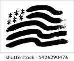 hand drawn painted black and...   Shutterstock .eps vector #1426290476