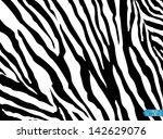 zebra pattern vector. eps 10 | Shutterstock .eps vector #142629076
