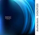 blue abstract background vector.... | Shutterstock .eps vector #142629103