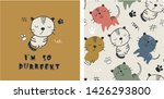 set of cute cat print and...   Shutterstock .eps vector #1426293800
