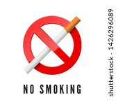 no smoking. red prohibition... | Shutterstock .eps vector #1426296089