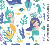 seamless pattern with cute...   Shutterstock .eps vector #1426303886