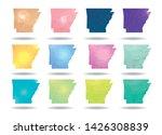 abstract polygon arkansas state ... | Shutterstock .eps vector #1426308839